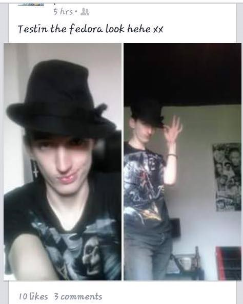 cringeworthy - Hat - 5 hrs Testin the fedora look hehe xX 10 likes 3comments