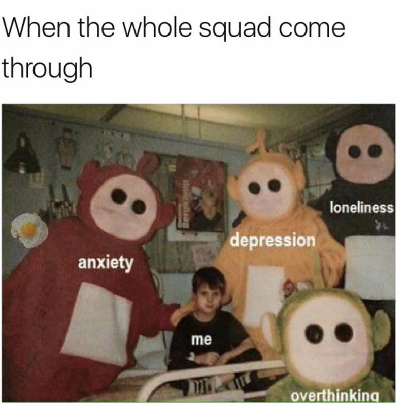 teletubbies represent anxiety and depression meme