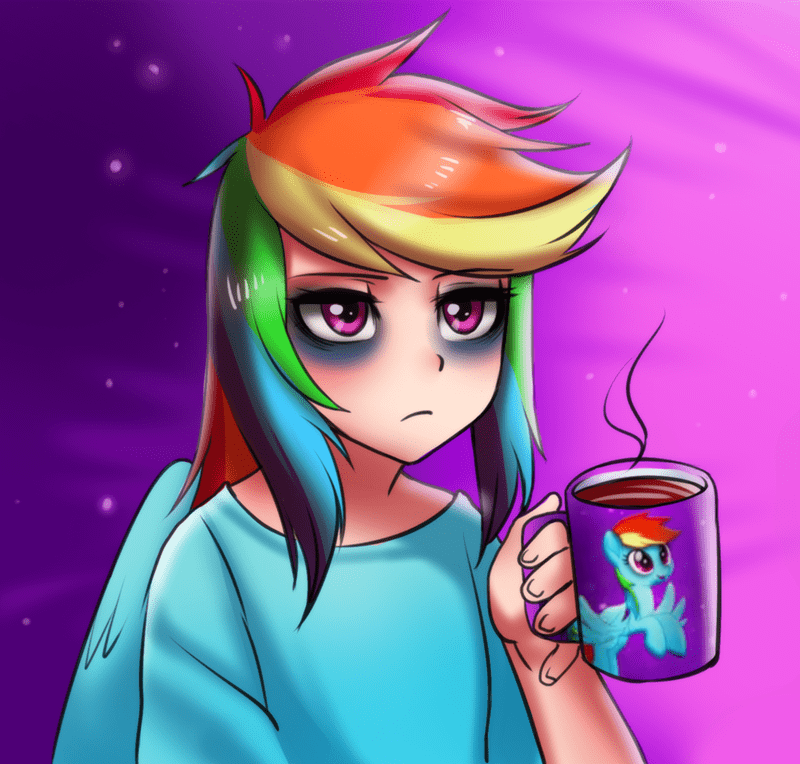 humanized my little pony the movie racoon-san rainbow dash - 9026092800