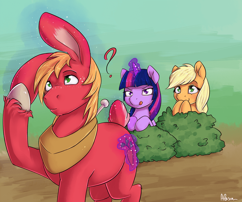 applejack,twilight sparkle,alasou,Big Macintosh