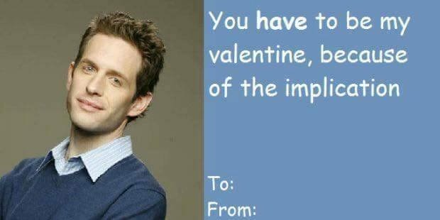 valentine card from Dennis from Always Sunny referencing the implication