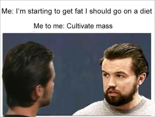 Evil Kermit meme about Mac from Always Sunny becoming fat