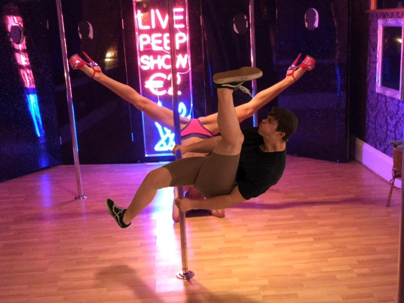 Pole dancer photoshop from the funny picture of the kicker of the mosh pit engagement
