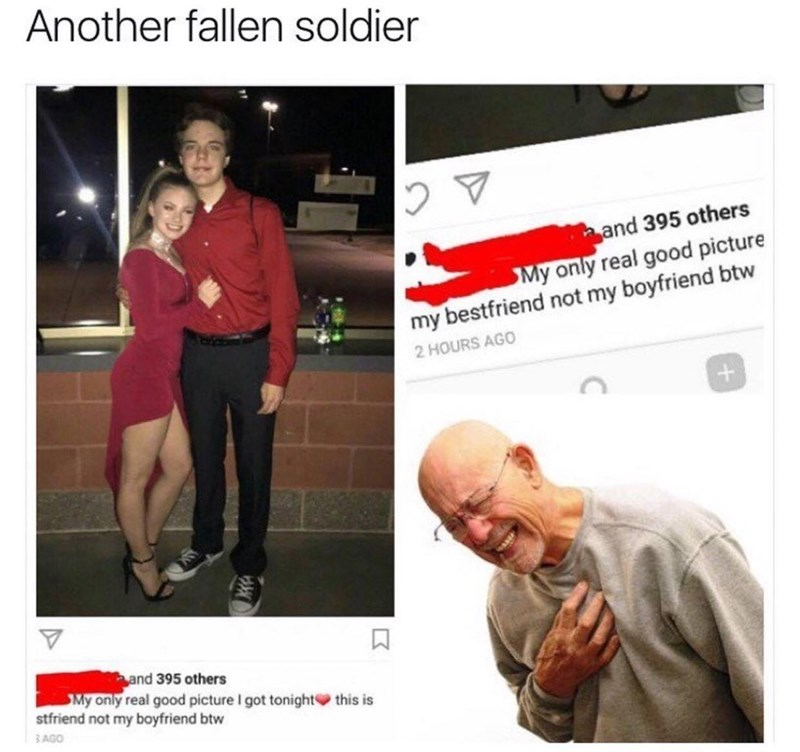 guy is friendzoned heart attack
