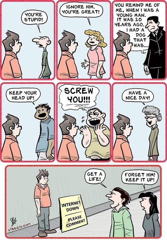 internet comments in real life web comic