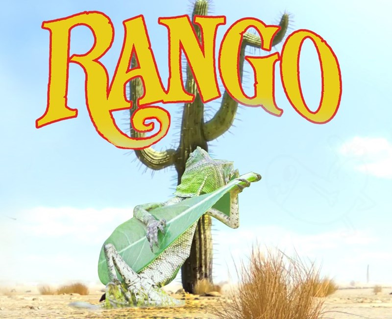 Photoshop battle of lizard playing the banjo leaf made into a funny picture with his name changed to Rango.