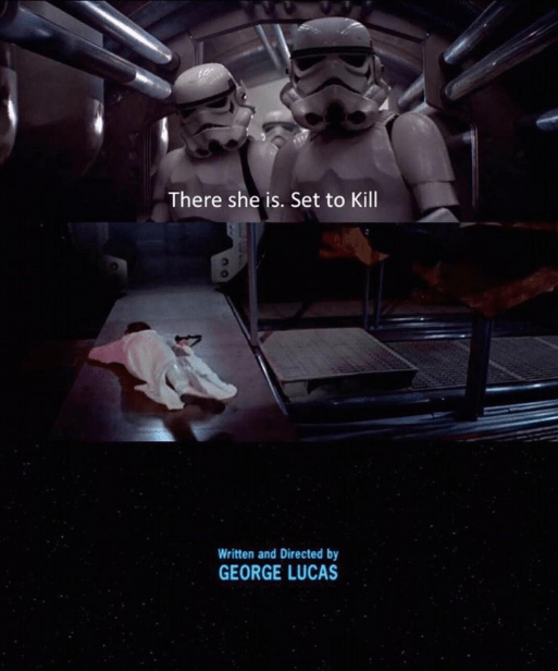 Fictional character - There she is. Set to Kill Written and Directed by GEORGE LUCAS