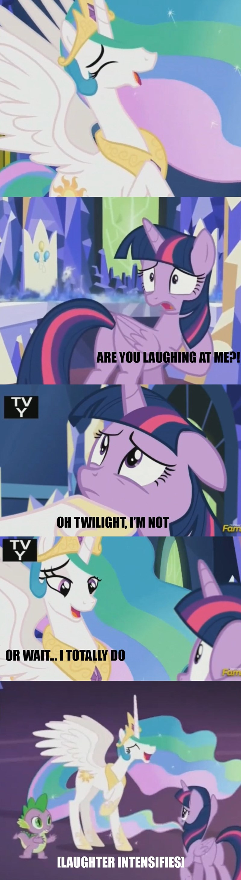 celestial advice trollestia twilight sparkle screencap comic princess celestia - 9027159040