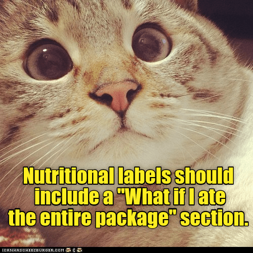 cat include package label ate nutritional entire caption - 9027199232