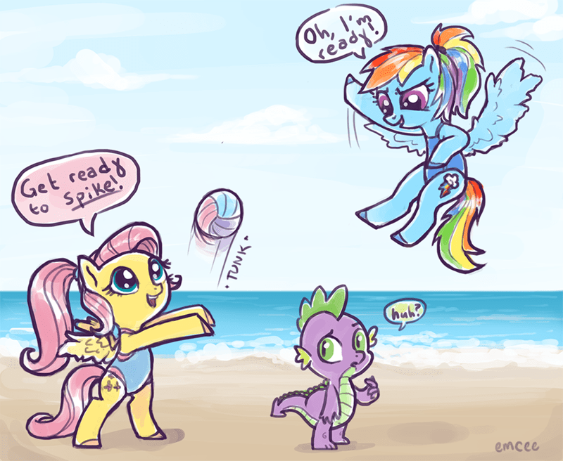 spike,puns,flutersh,mc pony pony pony,rainbow dash