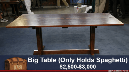 Furniture - Big Table (Only Holds Spaghetti) $2,500-$3,000 AR @KeatonPatts