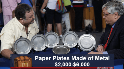 Idiophone - Paper Plates Made of Metal $2,000-$6,000 AR @KeatonPat