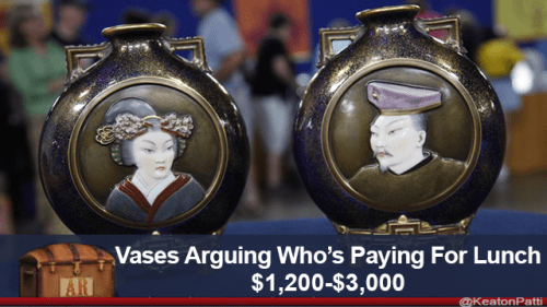 Antique - Vases Arguing Who's Paying For Lunch $1,200-$3,000 AR @KeatonPatti