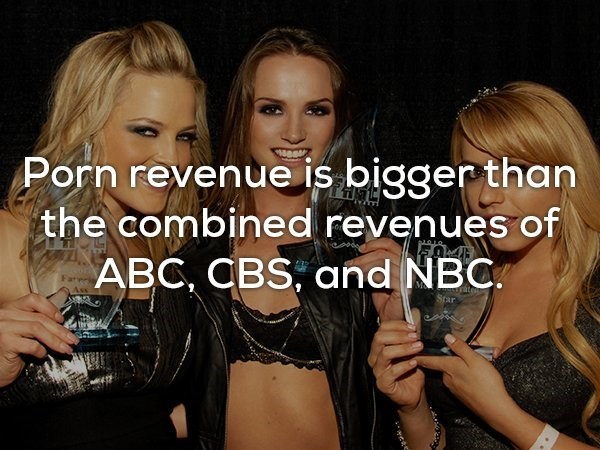 Blond - Porn revenue is bigger than the combined revenues of ABC, CBS, and NBC Tate Star