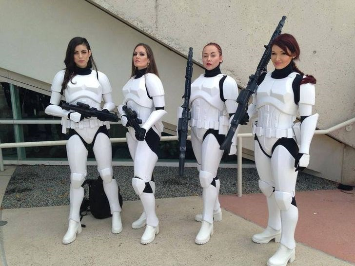 star wars stormtrooper cosplay by beautiful women