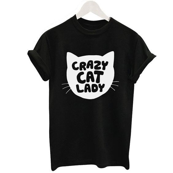 T-shirt - CRAZY CAT LADY