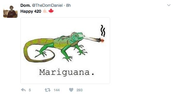 Lizard - Dom. @TheDomDaniel 8h Наpрy 420 Mariguana. t144 293 5