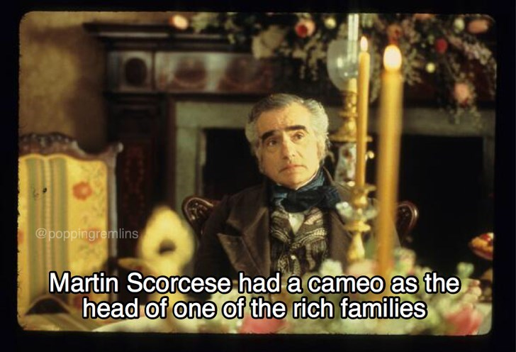 Photo caption - @poppingremlins Martin Scorcese had a cameo as the head of one of the rich families