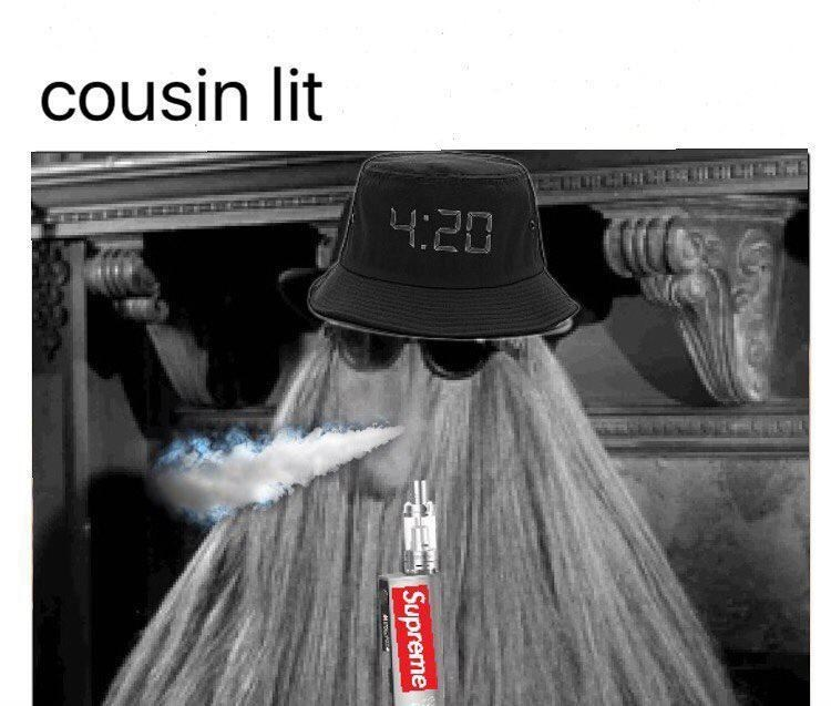 meme of cousin lit