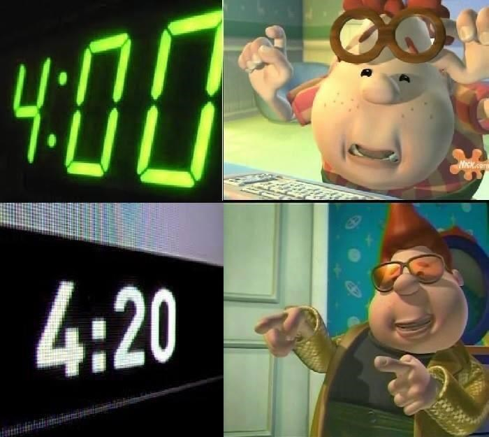 420 meme about becoming all hip at that hour