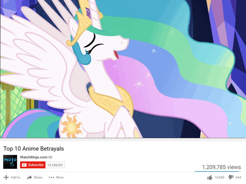 anime princess celestia Memes ponify celestial advice - 9028497408