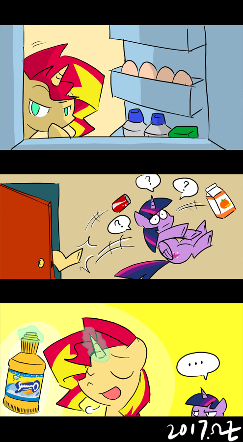 comic puns twilight sparkle sunset shimmer rvceric sunnyd - 9028525056