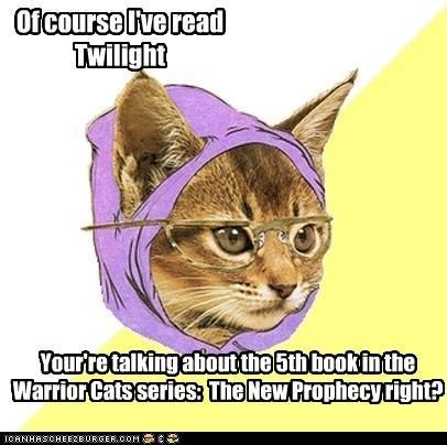 Hipster Cat Meme has read all the books