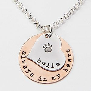 Dog necklace gift with name on it.