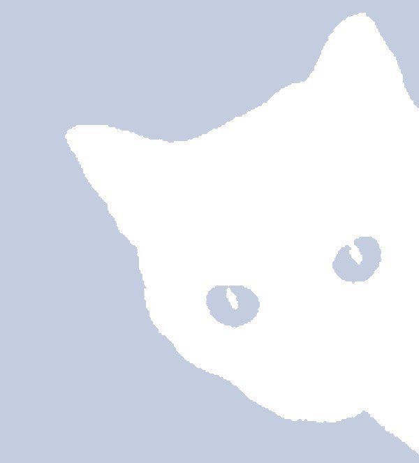 Silhouette of a shy cat for facebook profile pic.