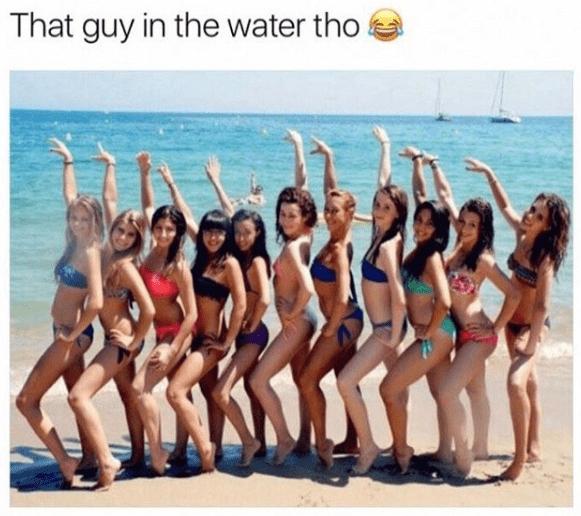 meme girls posing for photo