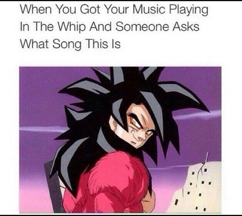 Cartoon - When You Got Your Music Playing In The Whip And Someone Asks What Song This Is