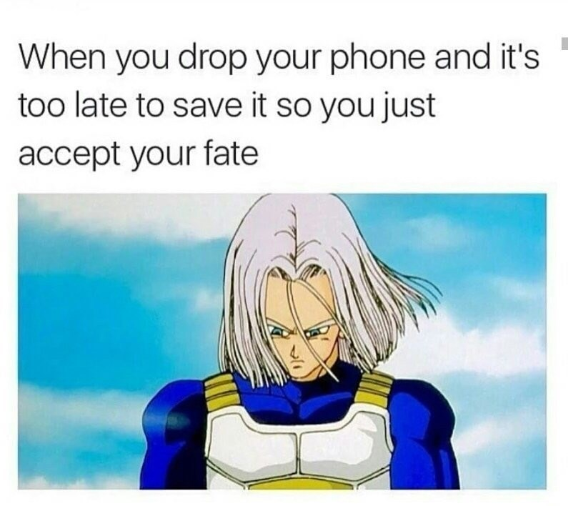 Cartoon - When you drop your phone and it's too late to save it so you just accept your fate