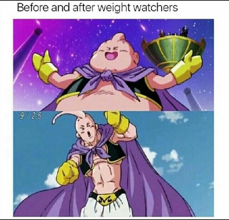 Cartoon - Before and after weight watchers 9:26