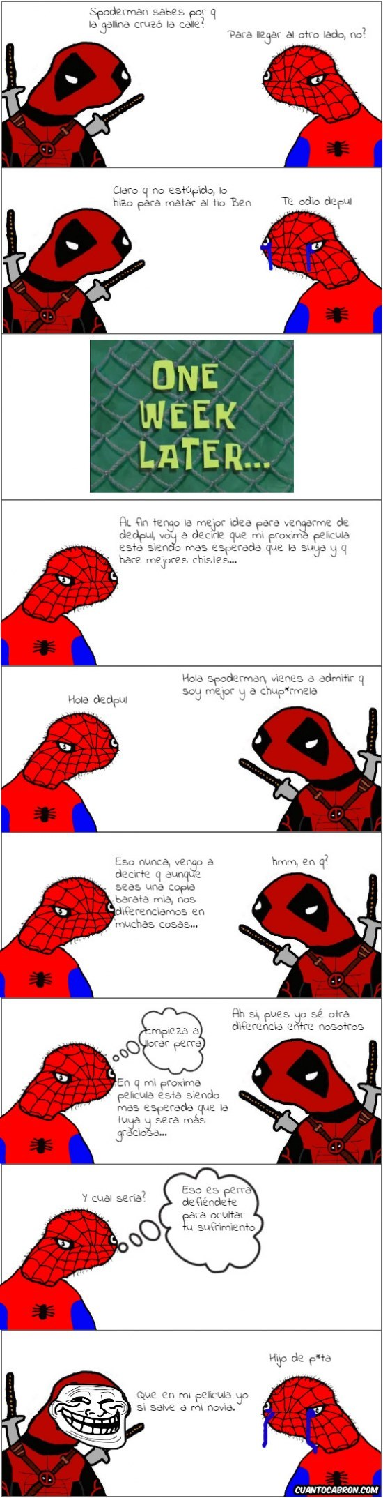 Spiderman contra Deadpool