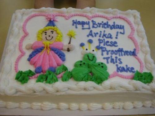 Cake - Hapay Brichdlay Arika Plese Prooffreed This Kake
