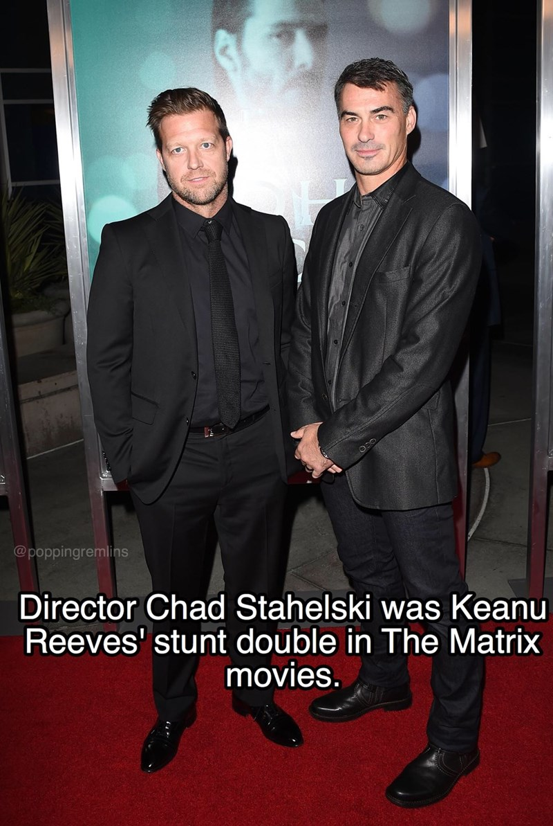 Suit - @poppingremlins Director Chad Stahelski was Keanu Reeves' stunt double in The Matrix movies.