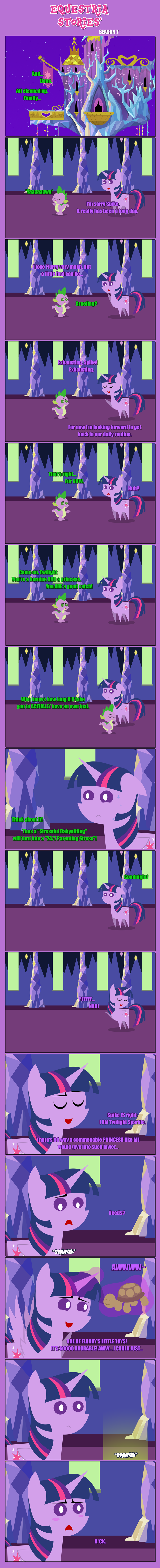 spike twilight sparkle estories comic a flurry of emotions - 9029908480