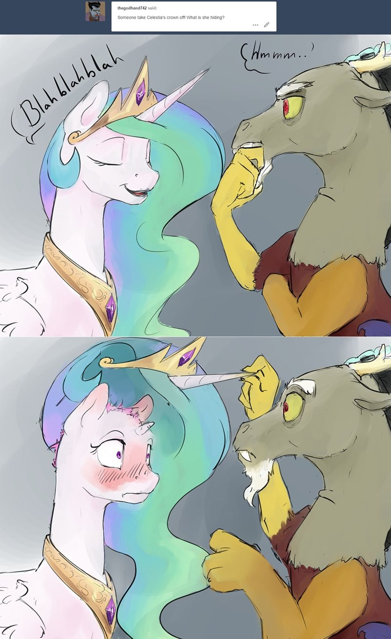 Discord Celestia Comic secrets of the sun - my little brony - my little pony