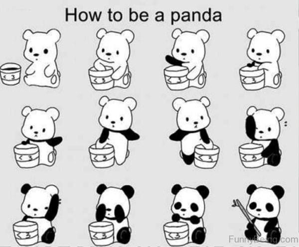 White - How to be a panda FunnyBeng com