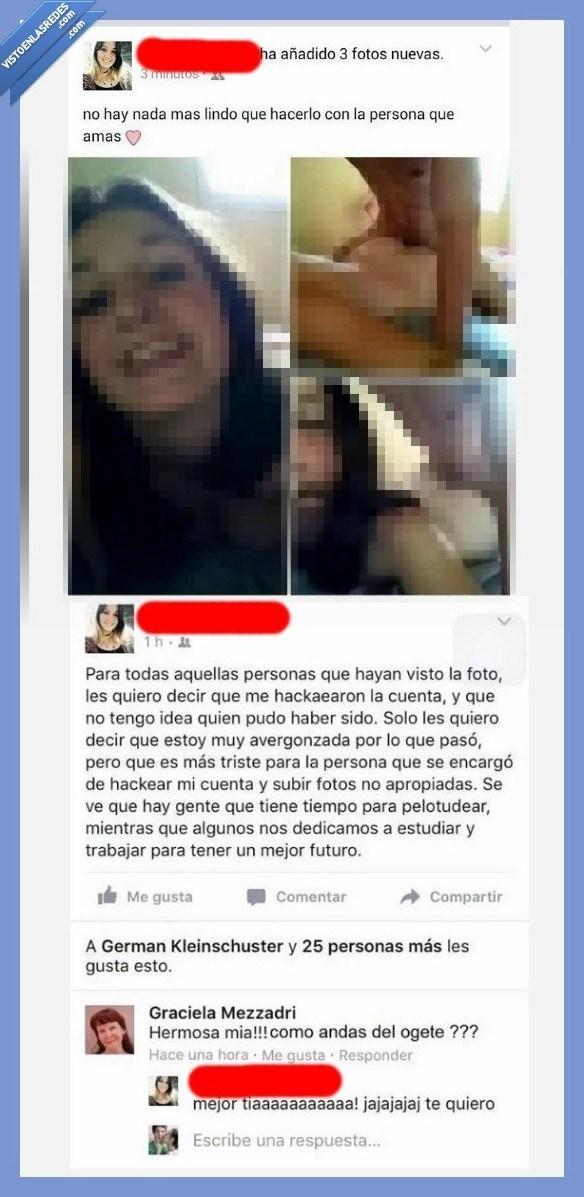 cuenta de facebook hackeada