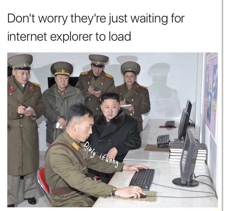 Thursday meme about North Korea using outdated technology