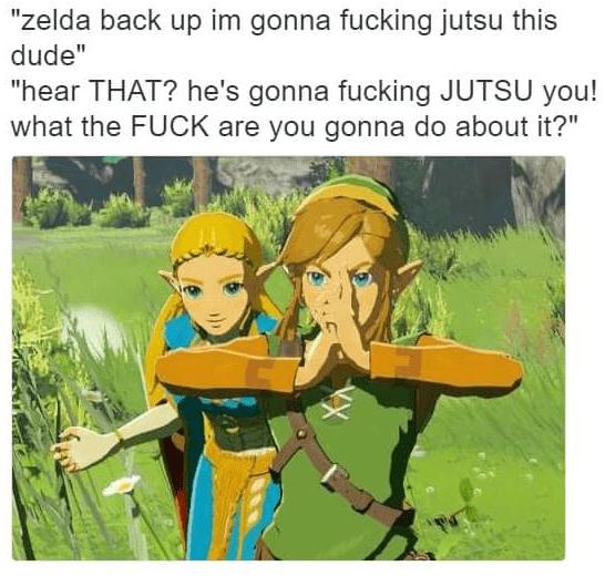 Thursday meme with Link and Zelda