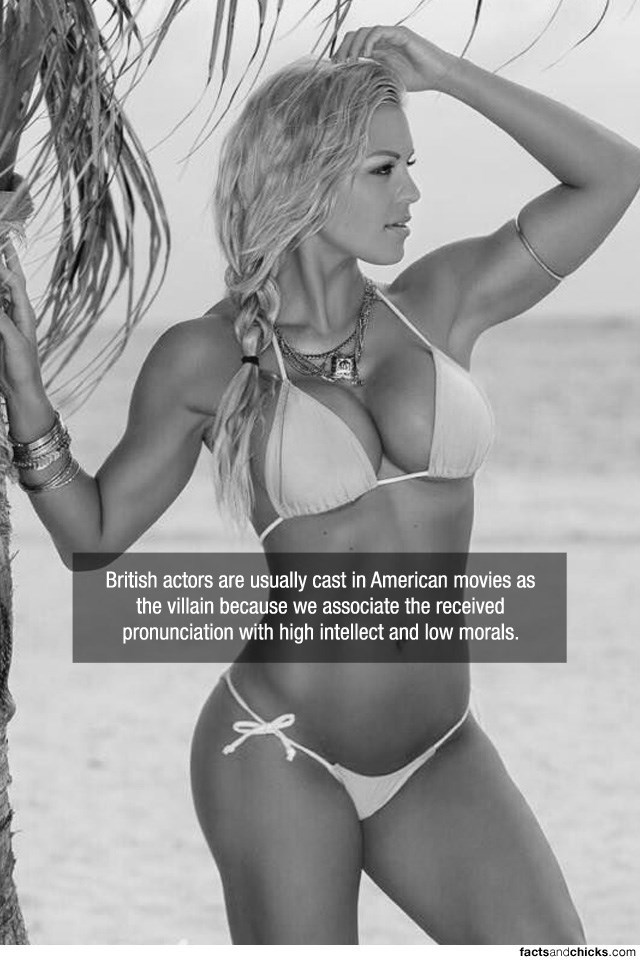 Photograph - British actors are usually cast in American movies as the villain because we associate the received pronunciation with high intellect and low morals. factsandchicks.com