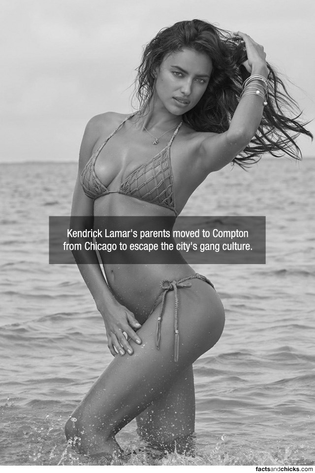Photograph - Kendrick Lamar's parents moved to Compton from Chicago to escape the city's gang culture. factsandchicks.com