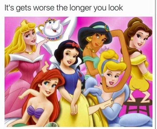 Animated cartoon - It's gets worse the longer you look