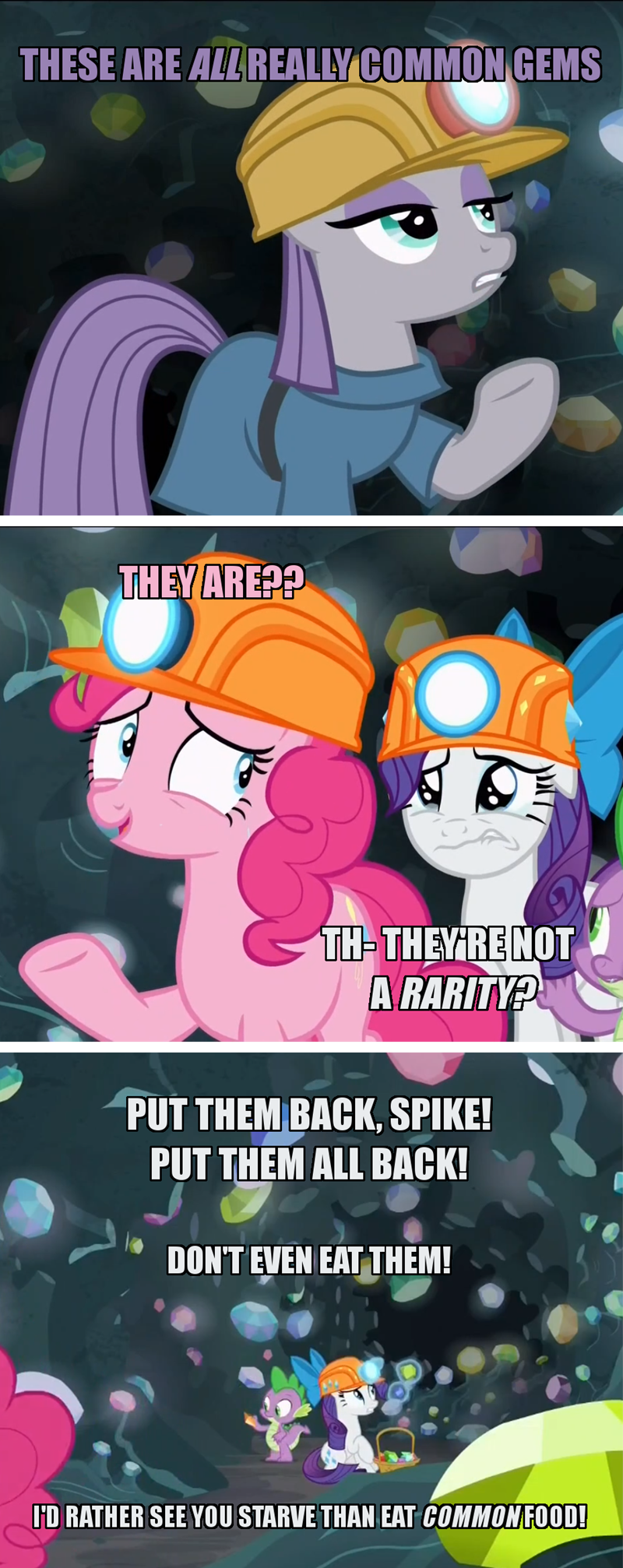 spike screencap puns pinkie pie rarity comic maud pie rock solid friendship