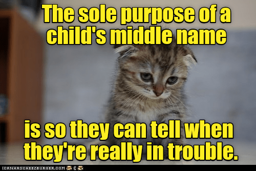child middle name Happy Kitten purpose caption trouble tell sole - 9030731264
