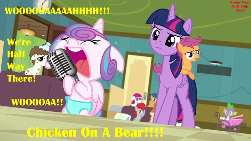 livin on a prayer woah we're halfway there flurry heart twilight sparkle puns bon jovi Scootaloo a flurry of emotions