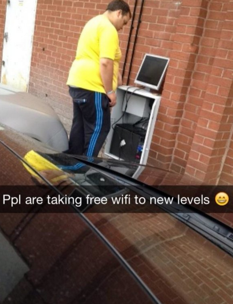 Roof - Ppl are taking free wifi to new levels