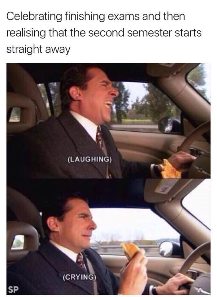 Michael scott driving.